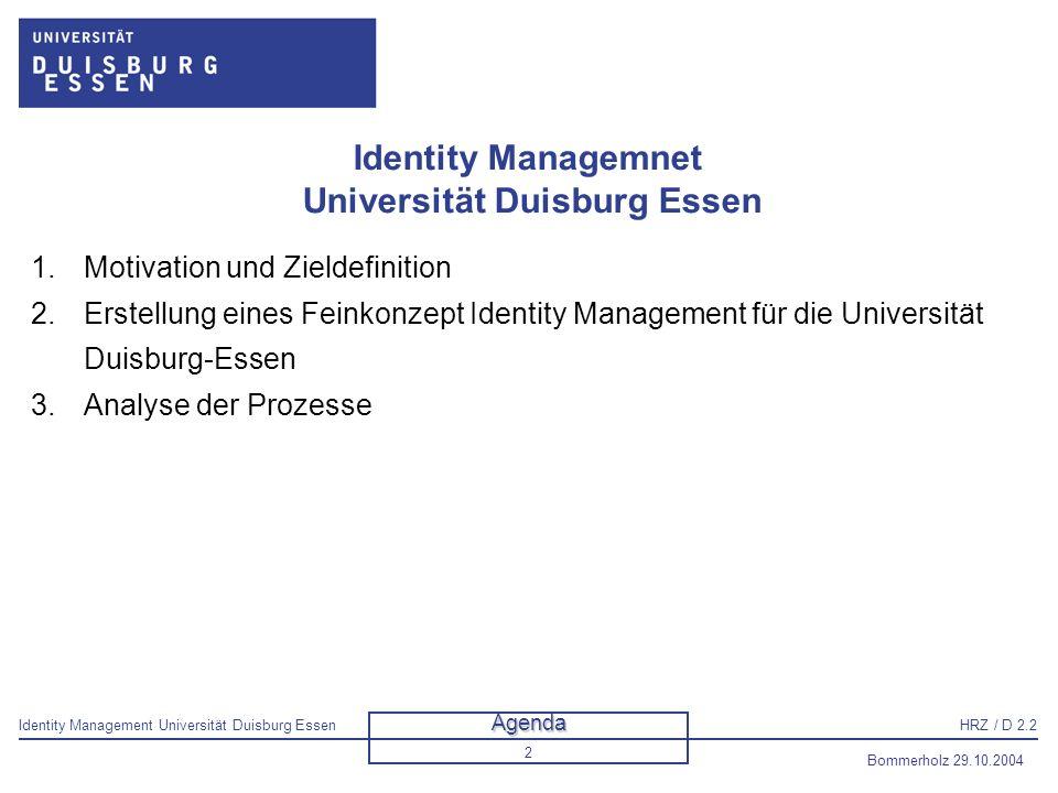 Identity Managemnet Universität Duisburg Essen