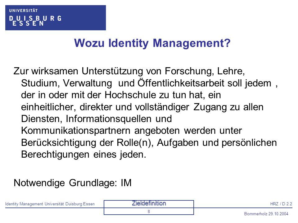 Wozu Identity Management