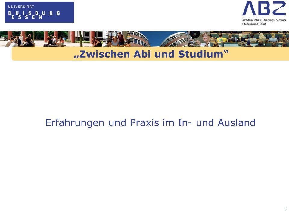 """""""Zwischen Abi und Studium"""