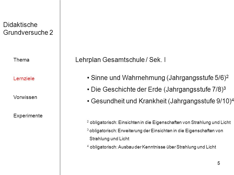 Lehrplan Gesamtschule / Sek. I