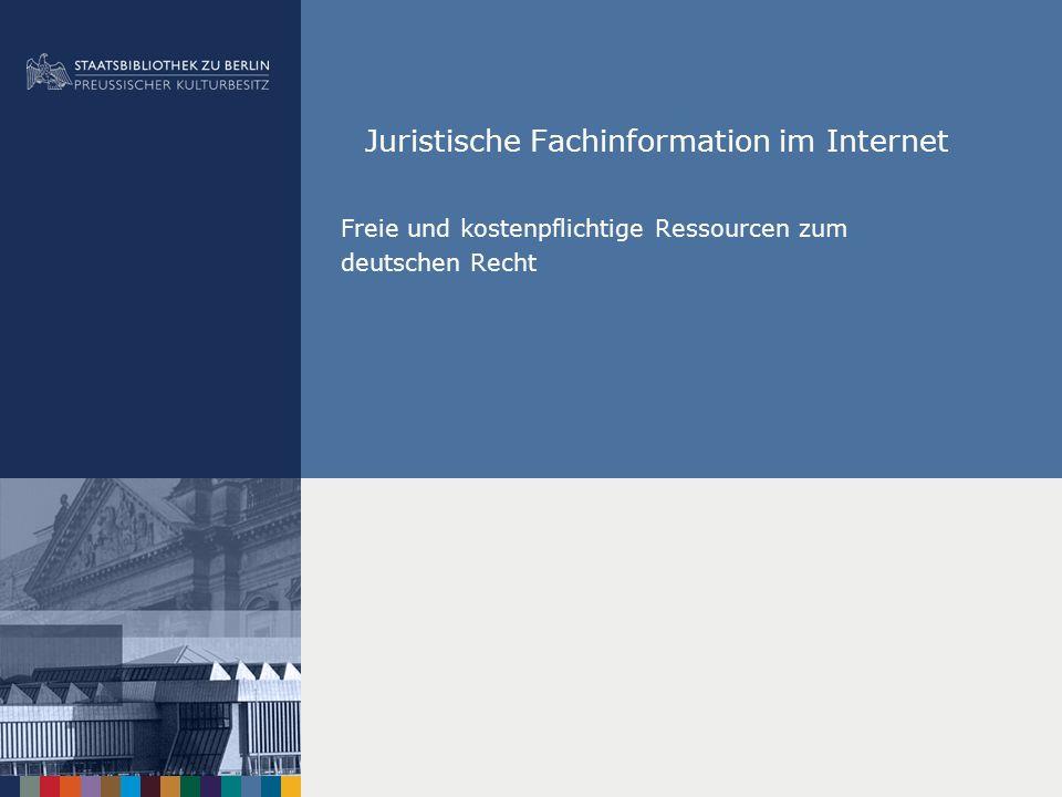 Juristische Fachinformation im Internet