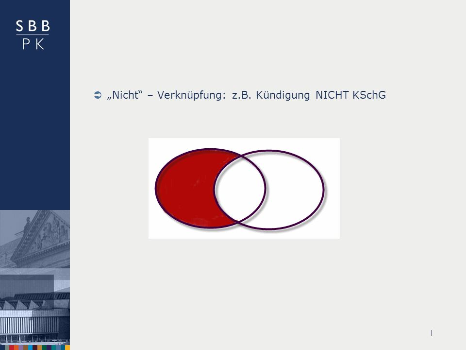 """""""Nicht – Verknüpfung: z.B. Kündigung NICHT KSchG"""