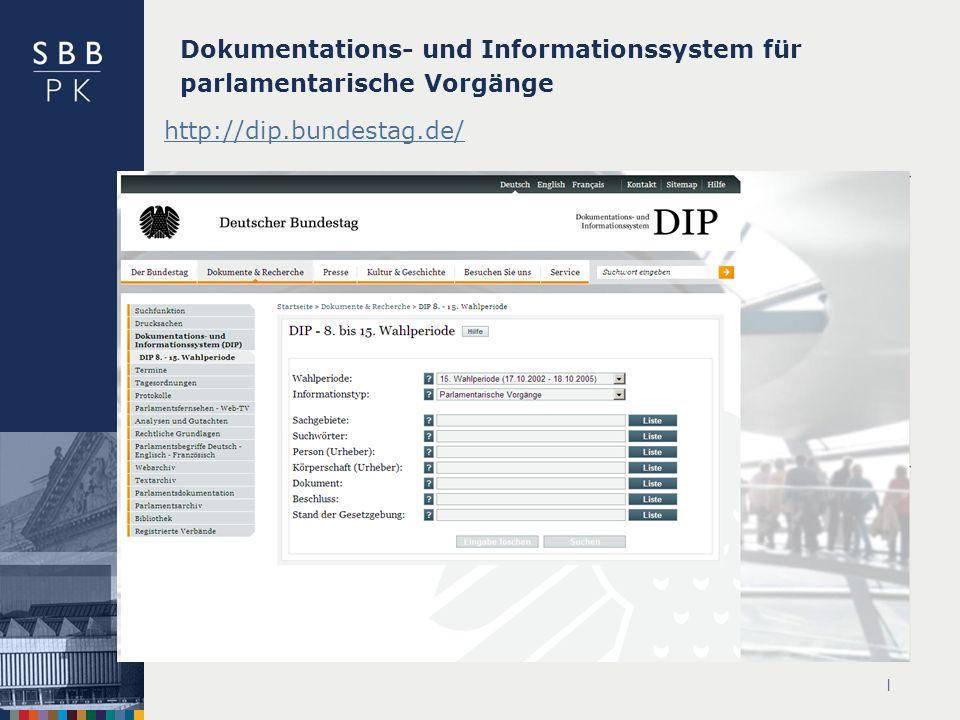 Dokumentations- und Informationssystem für parlamentarische Vorgänge