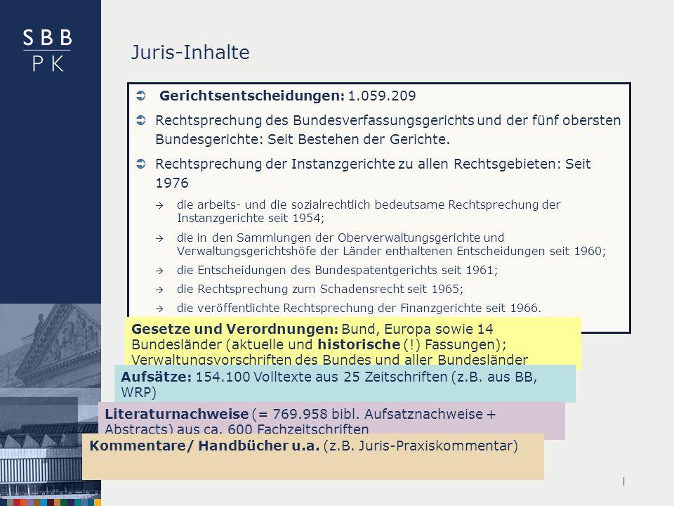 Juris-Inhalte Gerichtsentscheidungen: 1.059.209