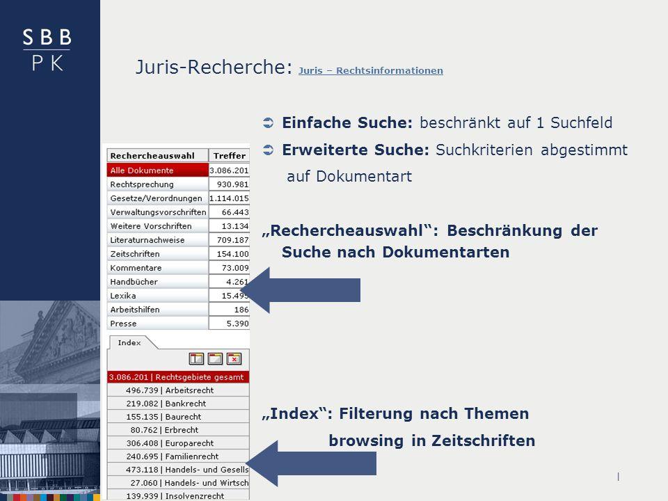 Juris-Recherche: Juris – Rechtsinformationen