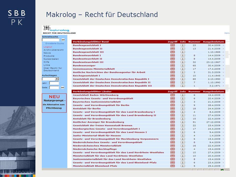 Makrolog – Recht für Deutschland