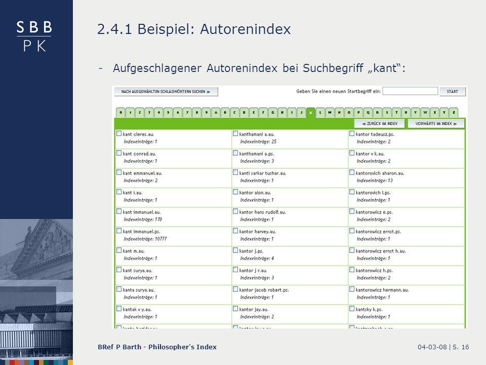 2.4.1 Beispiel: Autorenindex