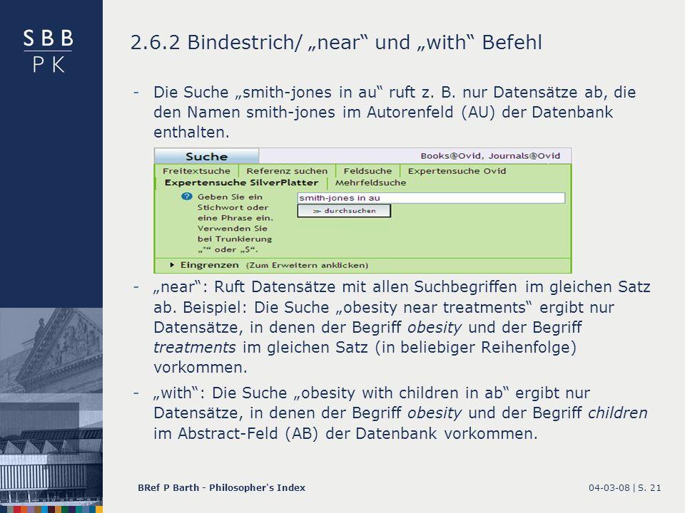 """2.6.2 Bindestrich/ """"near und """"with Befehl"""