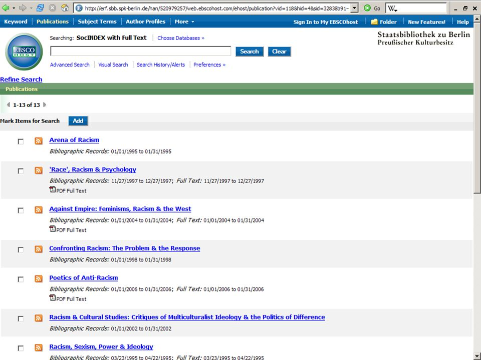 Abt. Katalogsystem und Wissenschaftliche Dienste | Kaya Tasci | Oktober 2008