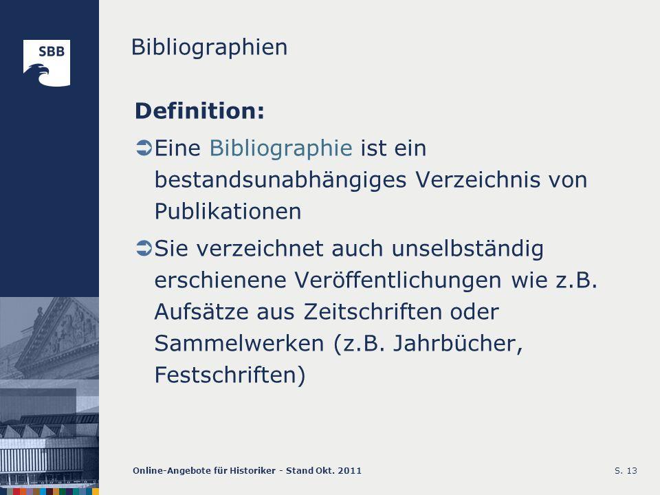 Bibliographien Definition: