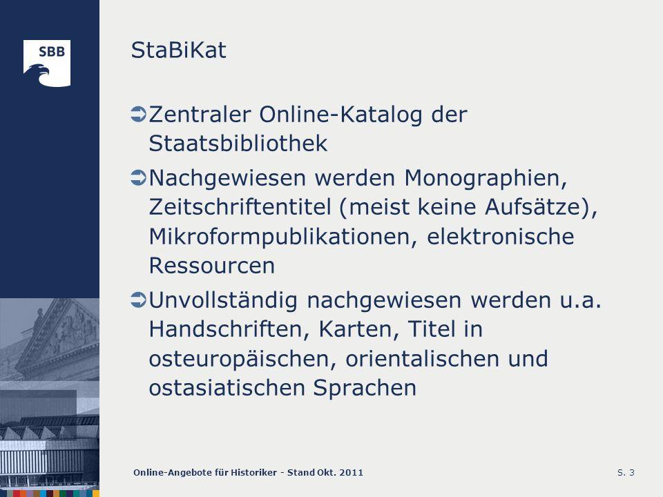 Zentraler Online-Katalog der Staatsbibliothek