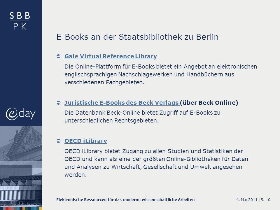 E-Books an der Staatsbibliothek zu Berlin