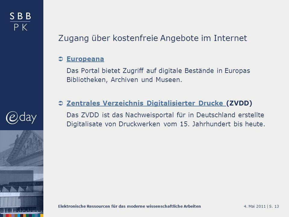 Zugang über kostenfreie Angebote im Internet