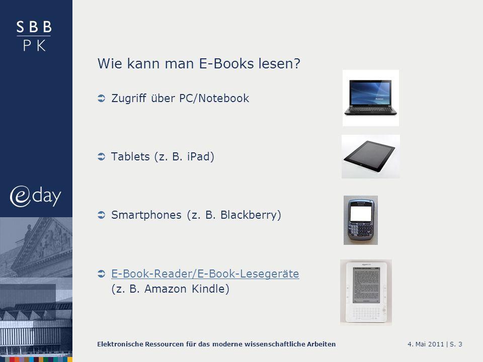 Wie kann man E-Books lesen