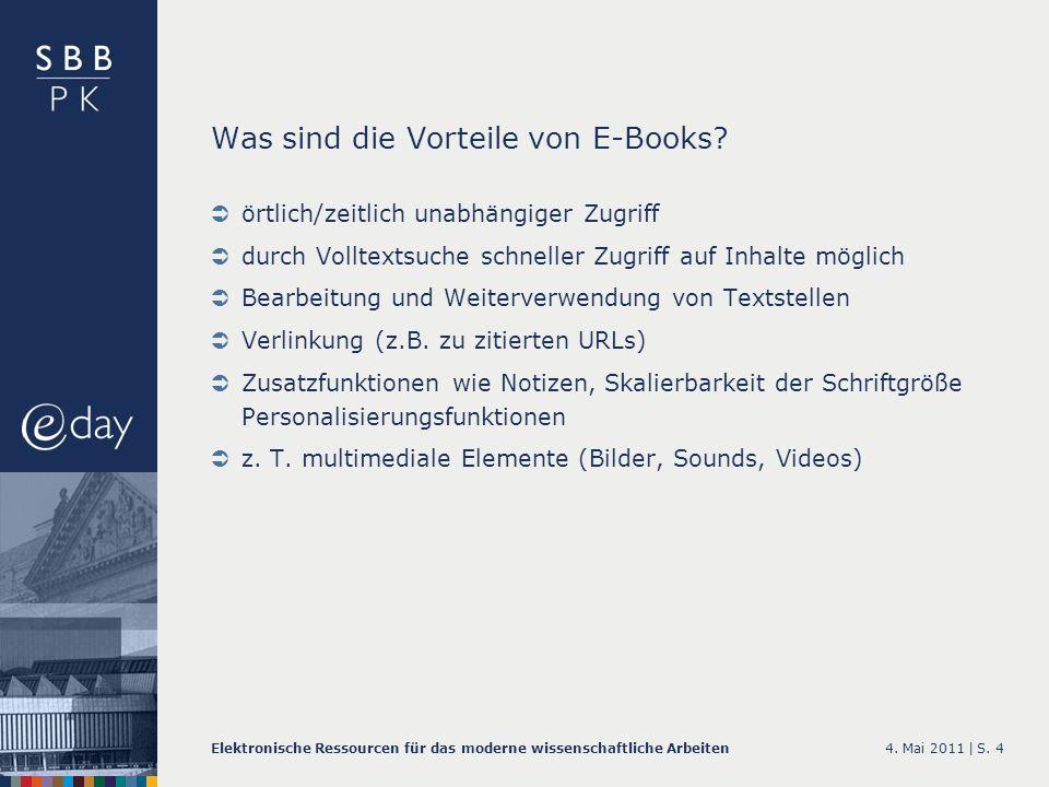 Was sind die Vorteile von E-Books