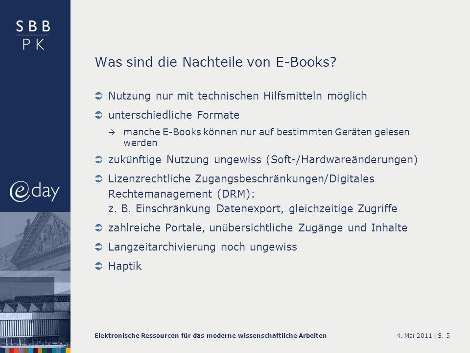 Was sind die Nachteile von E-Books