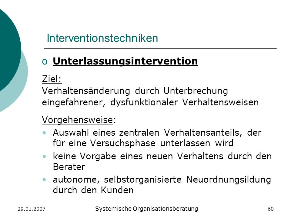 Interventionstechniken