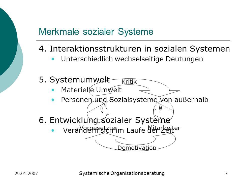 Merkmale sozialer Systeme