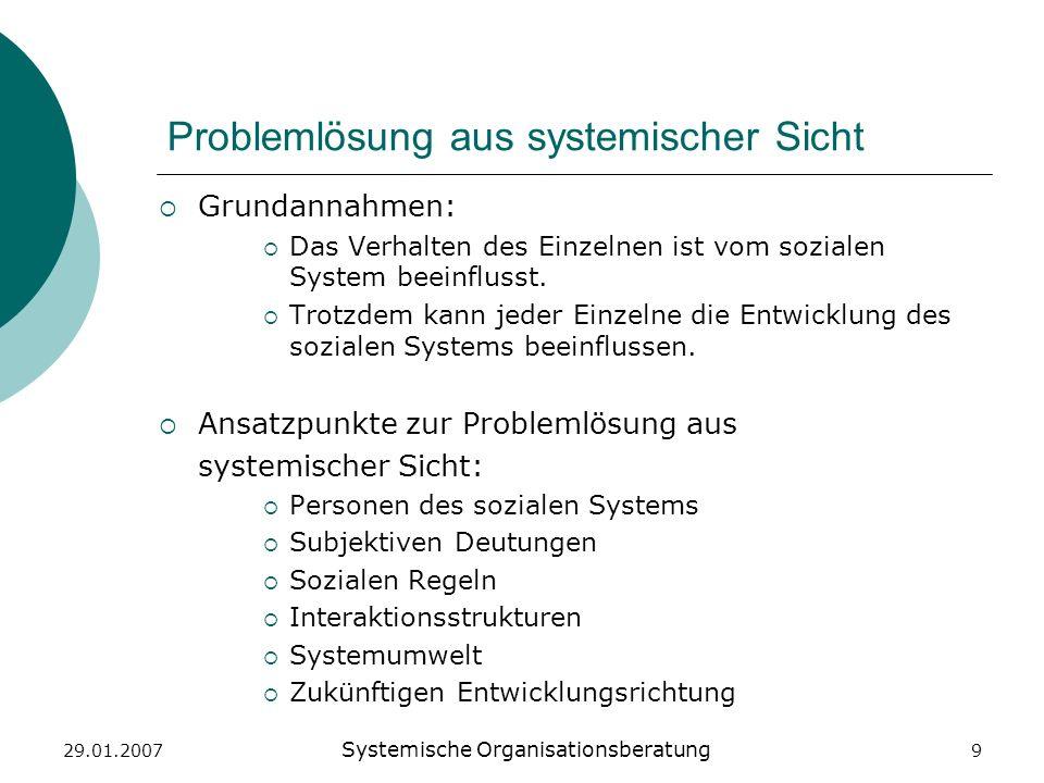 Problemlösung aus systemischer Sicht