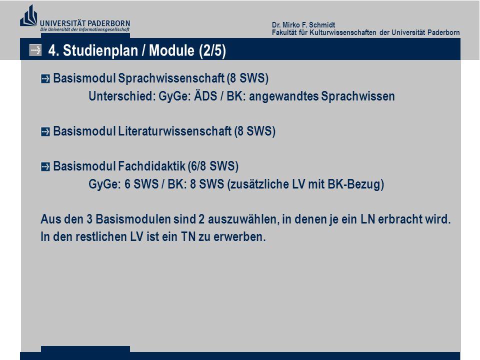 4. Studienplan / Module (2/5)