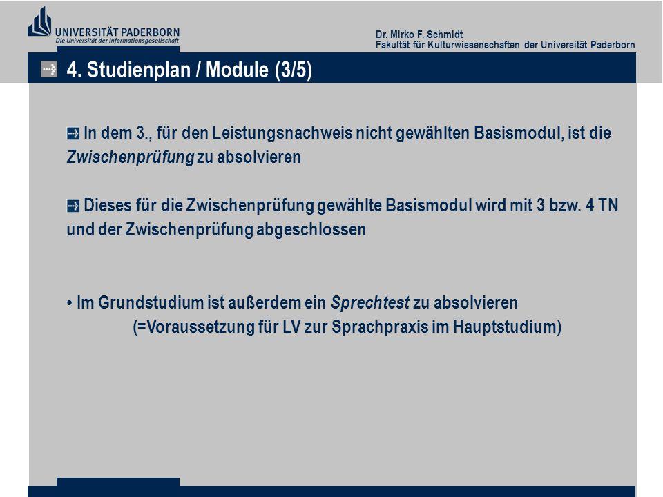 4. Studienplan / Module (3/5)