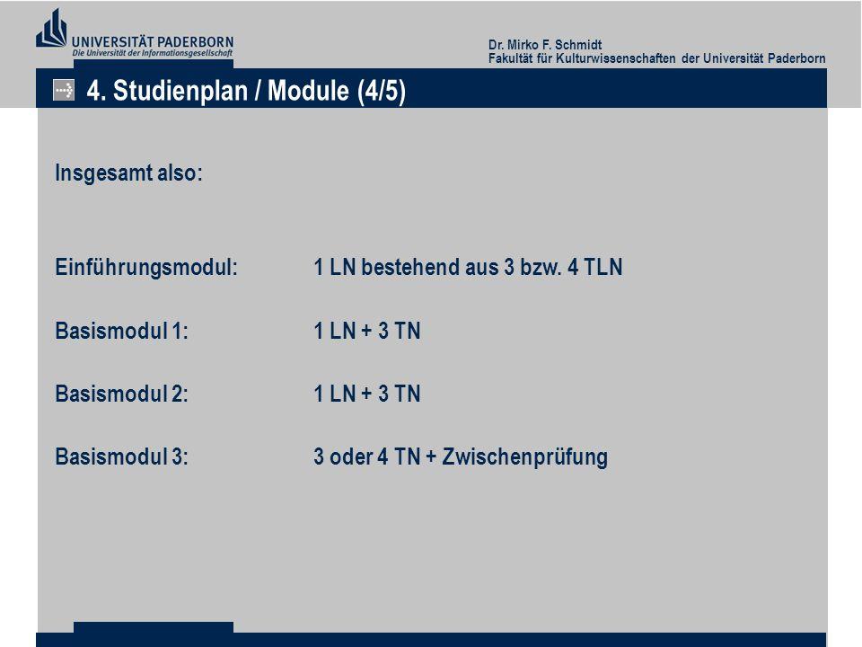 4. Studienplan / Module (4/5)