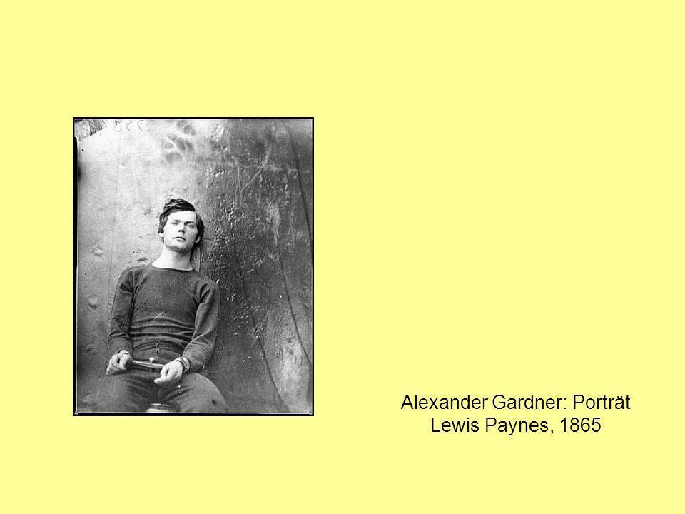 Alexander Gardner: Porträt Lewis Paynes, 1865