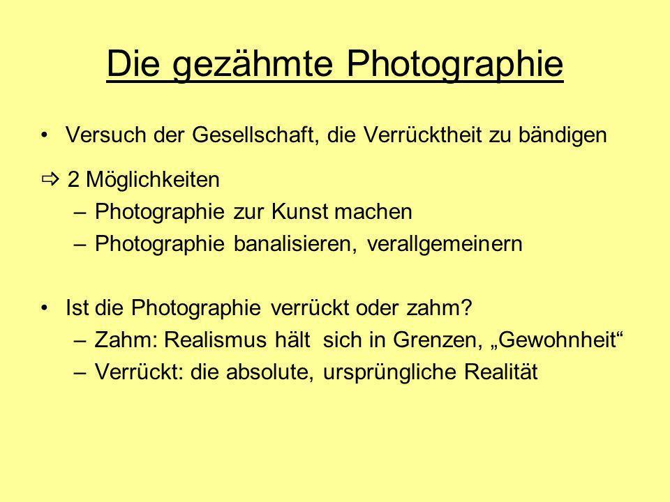 Die gezähmte Photographie