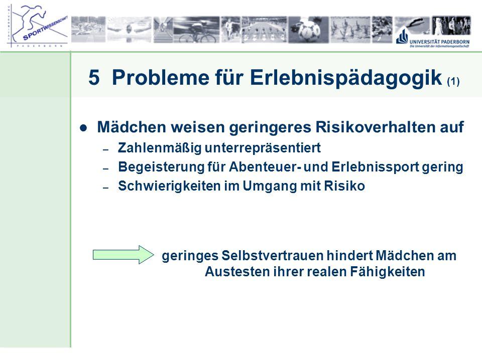 5 Probleme für Erlebnispädagogik (1)