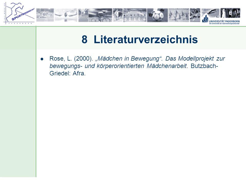 8 Literaturverzeichnis