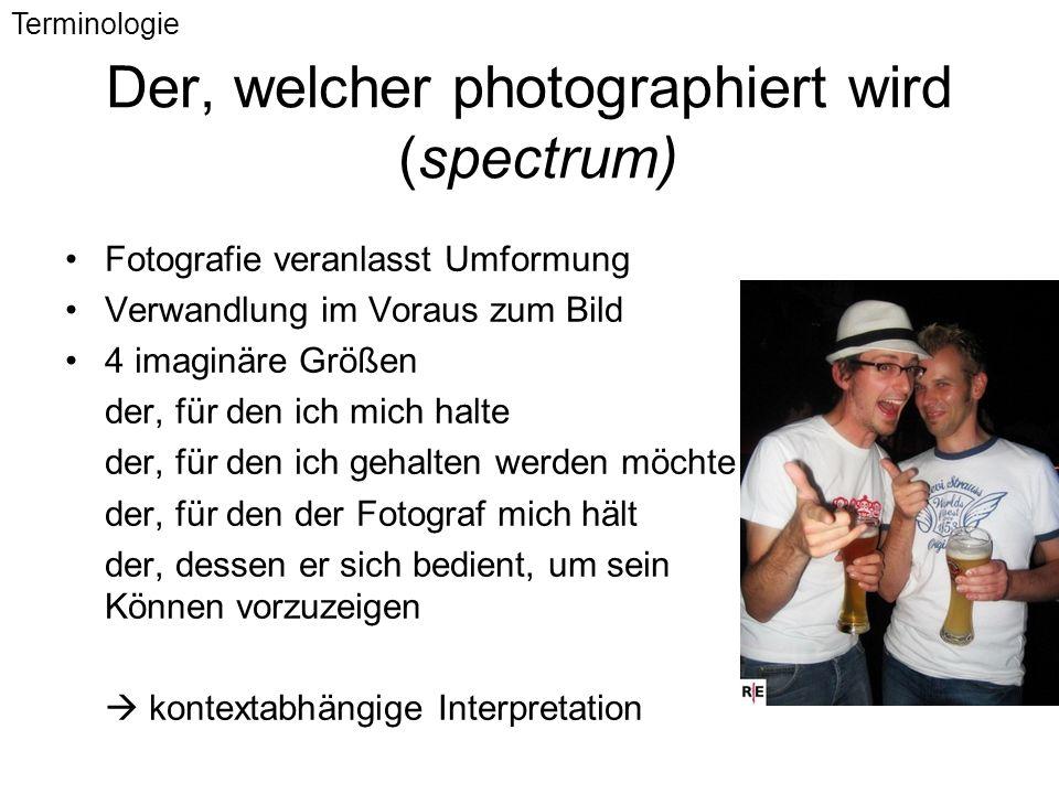 Der, welcher photographiert wird (spectrum)