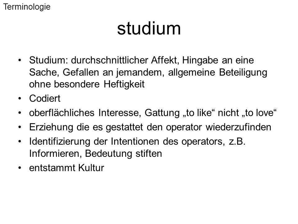 Terminologie studium.