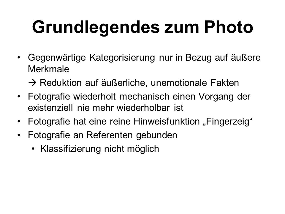 Grundlegendes zum Photo