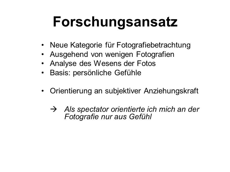 Forschungsansatz Neue Kategorie für Fotografiebetrachtung