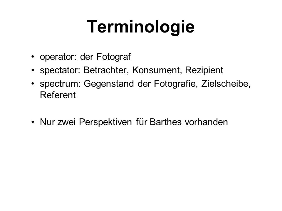 Terminologie operator: der Fotograf
