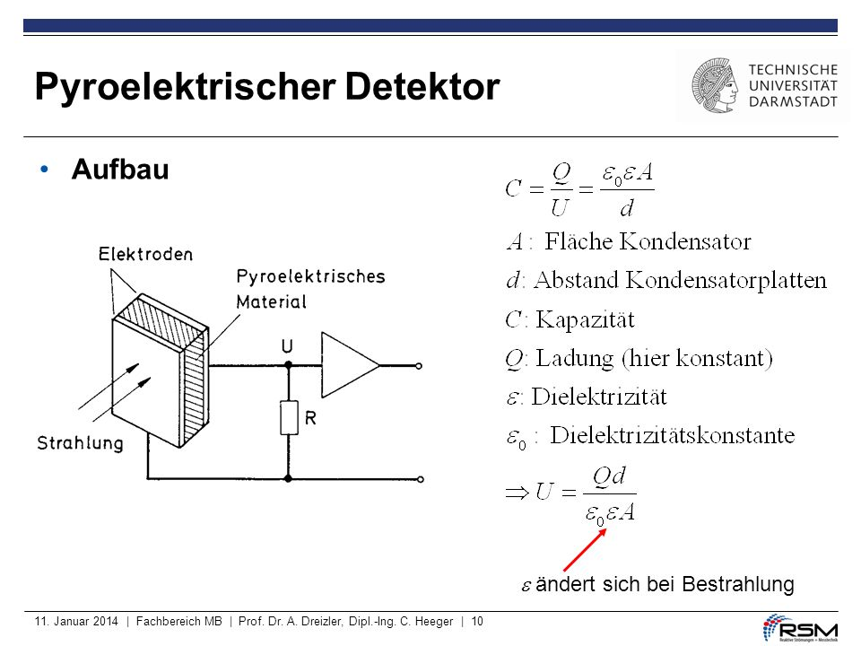Pyroelektrischer Detektor
