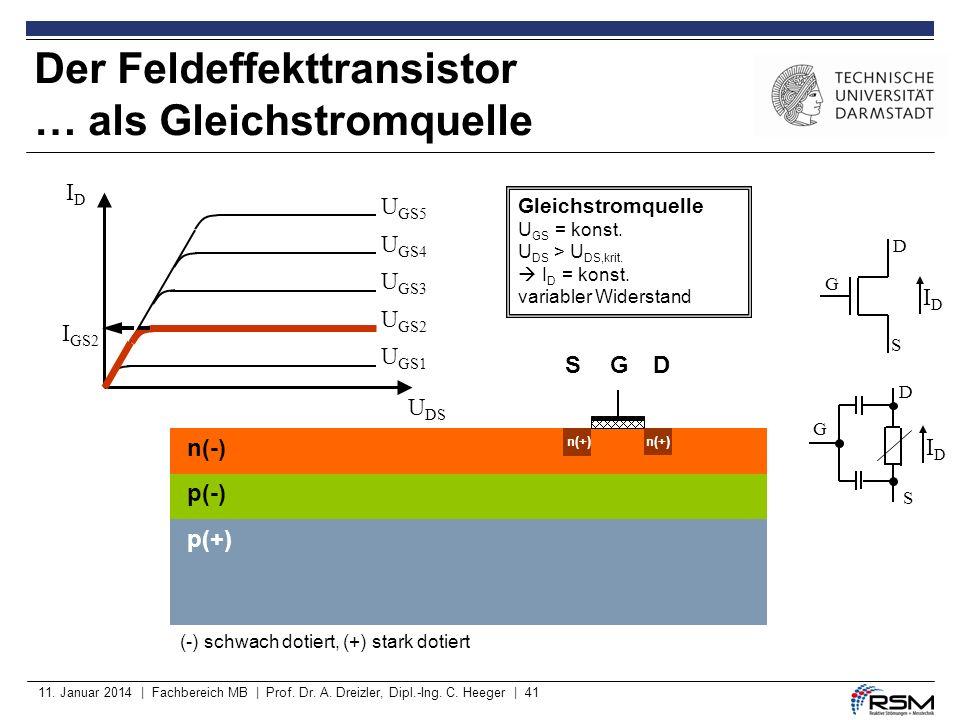 Der Feldeffekttransistor … als Gleichstromquelle