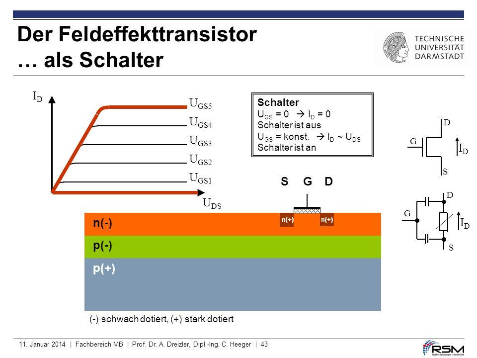 Der Feldeffekttransistor … als Schalter