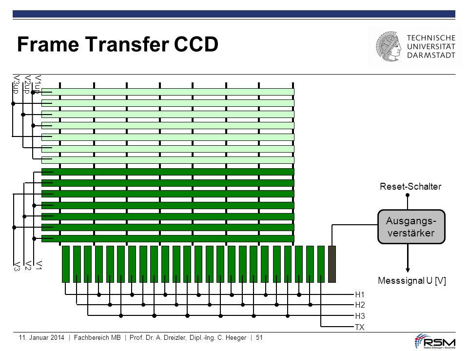 Frame Transfer CCD Ausgangs- verstärker Reset-Schalter