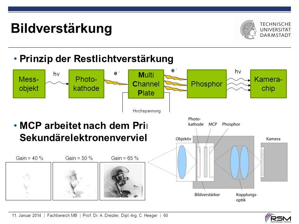 Bildverstärkung Prinzip der Restlichtverstärkung