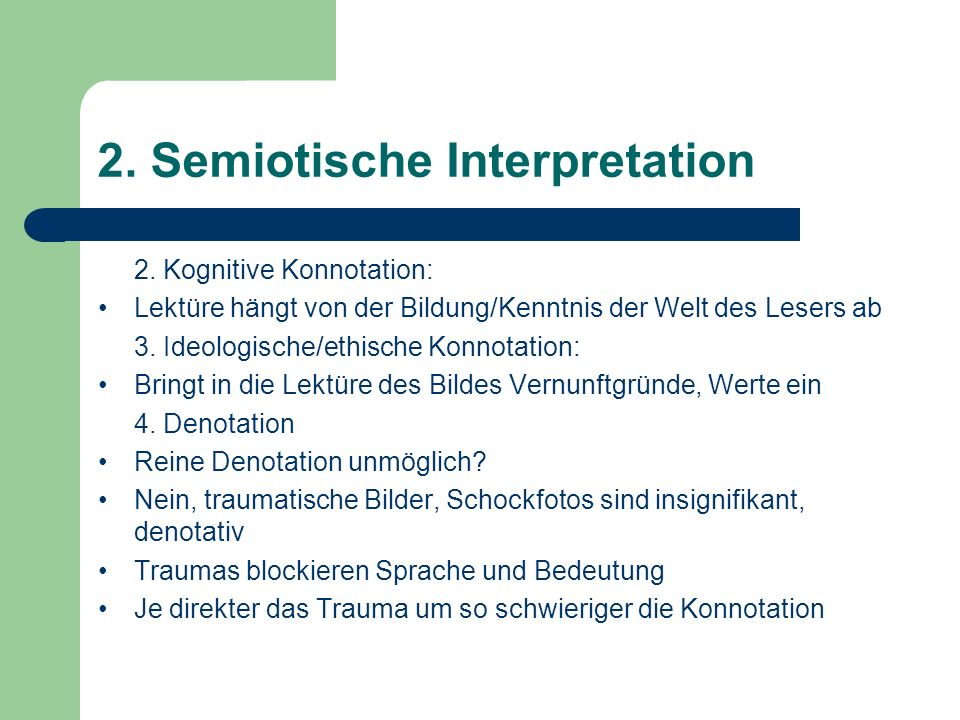 2. Semiotische Interpretation