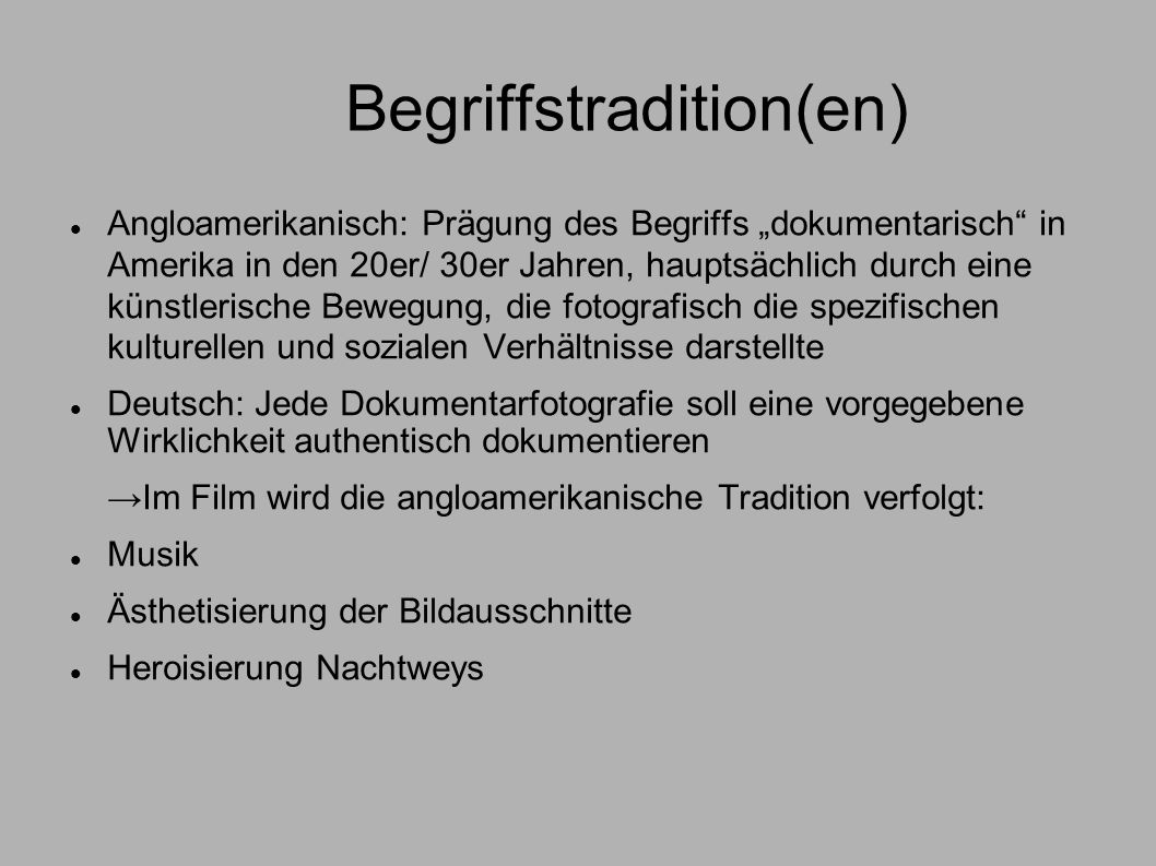Begriffstradition(en)