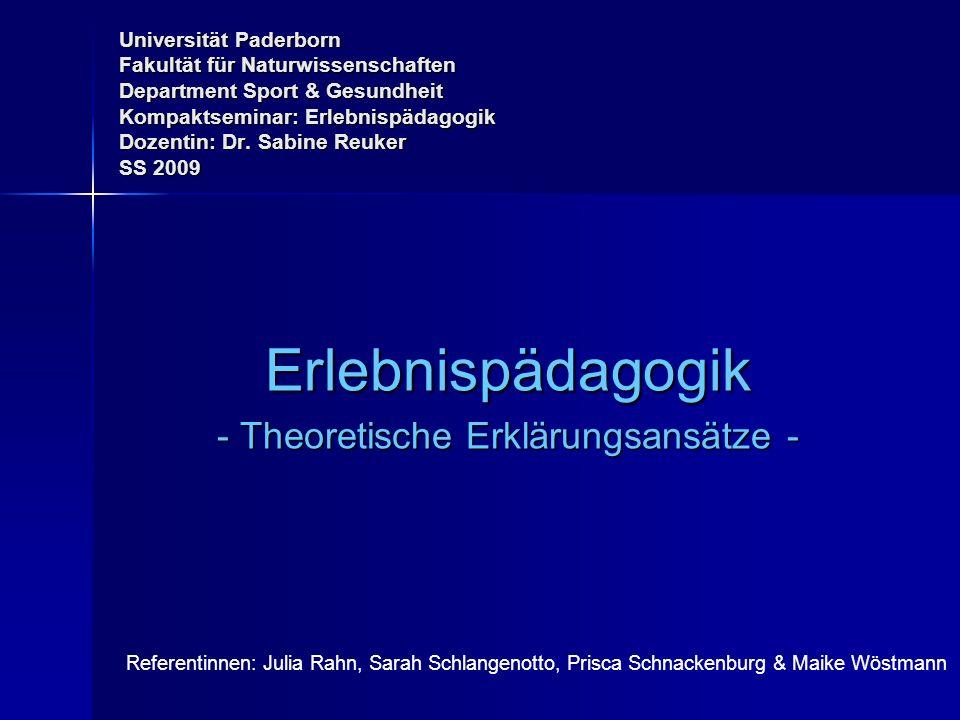 - Theoretische Erklärungsansätze -