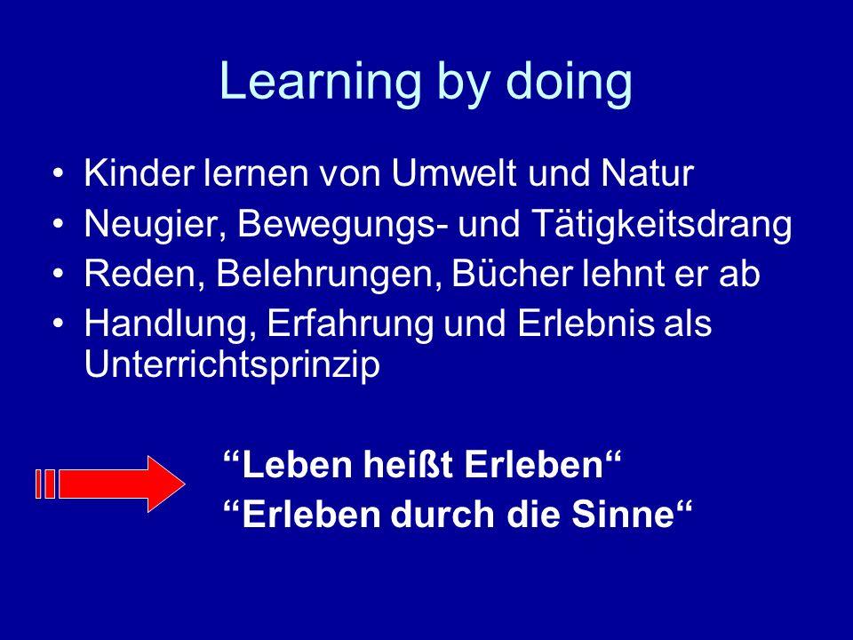 Learning by doing Kinder lernen von Umwelt und Natur