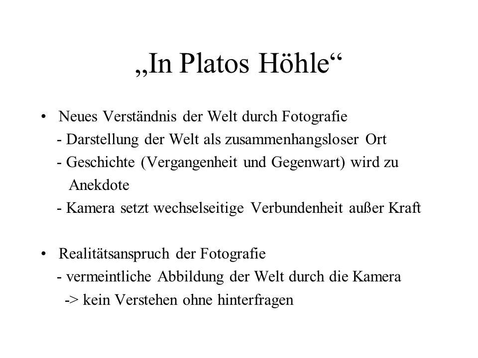 """""""In Platos Höhle Neues Verständnis der Welt durch Fotografie"""