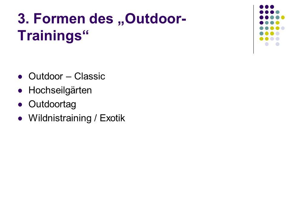 "3. Formen des ""Outdoor-Trainings"