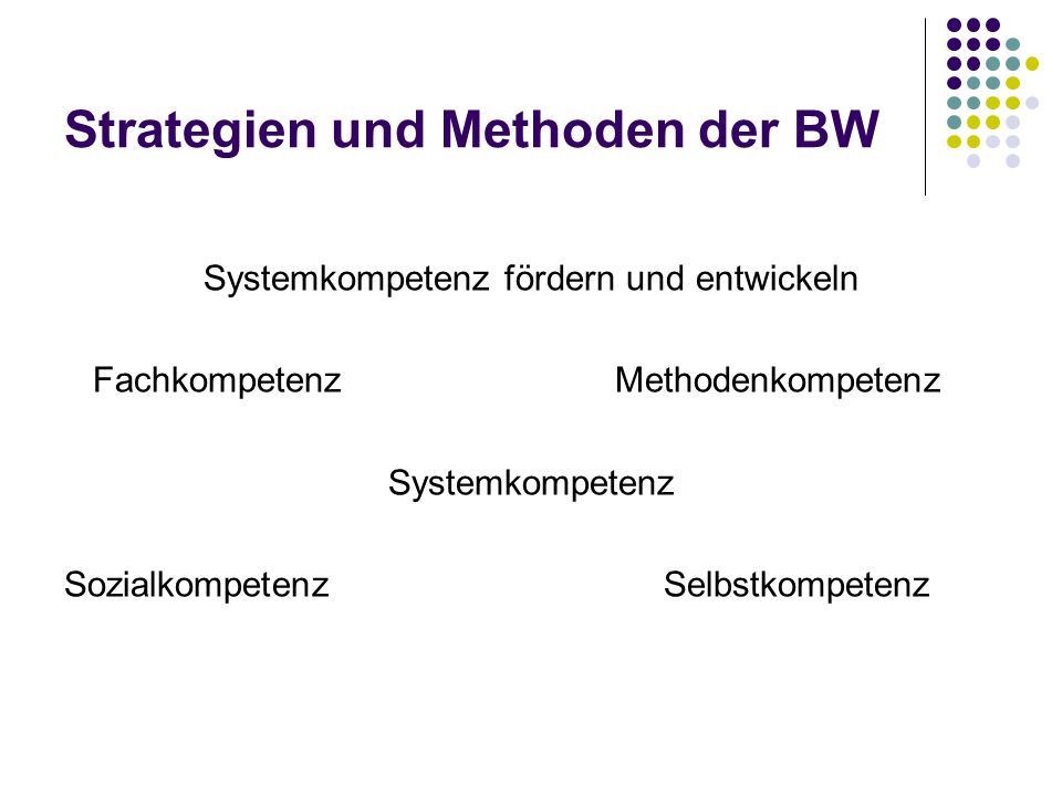 Strategien und Methoden der BW