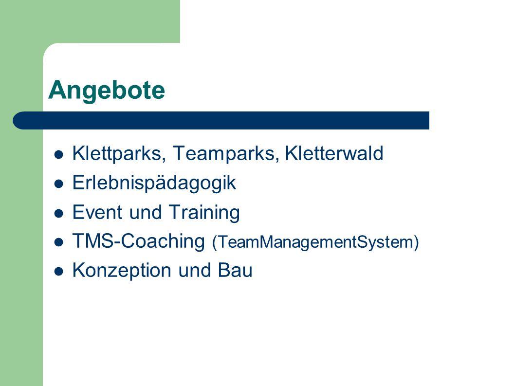 Angebote Klettparks, Teamparks, Kletterwald Erlebnispädagogik