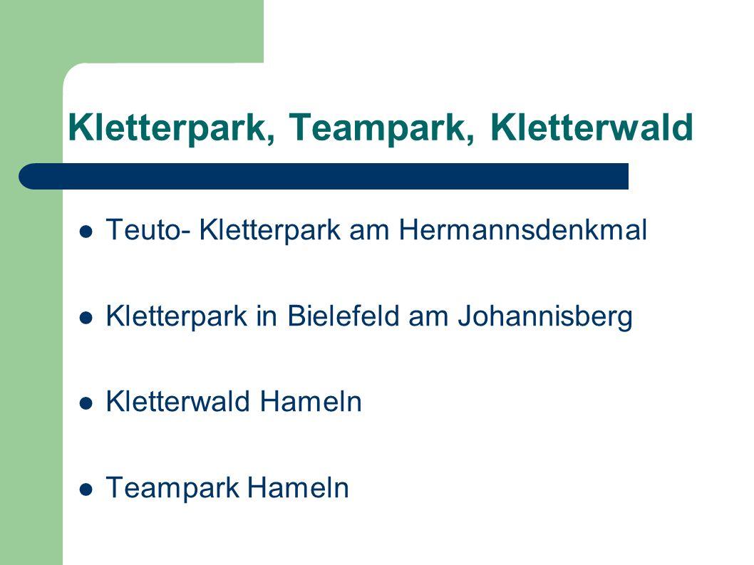 Kletterpark, Teampark, Kletterwald