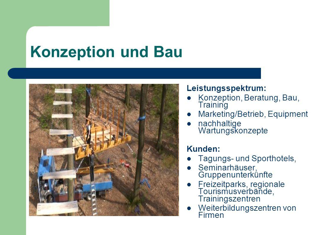 Konzeption und Bau Leistungsspektrum: